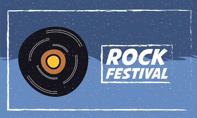 Cartaz de convite de entretenimento festival de rock