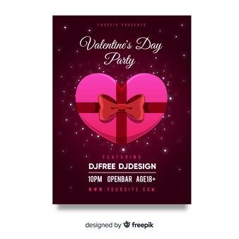 Cartaz de convite de festa dos namorados