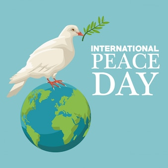 Cartaz de cor dia internacional da paz
