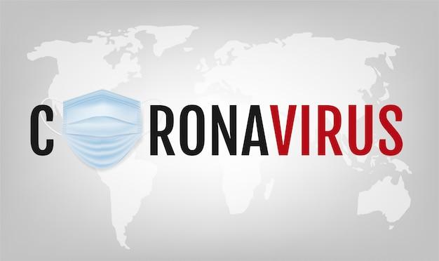Cartaz de coronavírus com fundo cinza