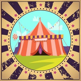 Cartaz de desenhos animados de circo
