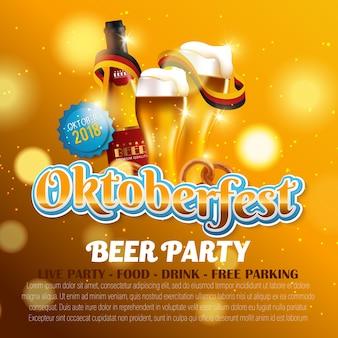 Cartaz de design com elementos de comida e bebida