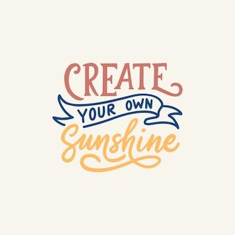Cartaz de design de letras de mão para citações inspiradoras
