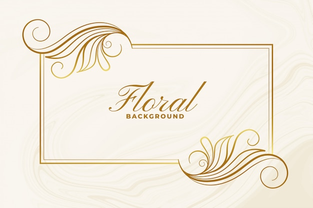 Cartaz de design decorativo de moldura floral ornamental