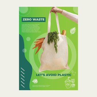 Cartaz de desperdício zero