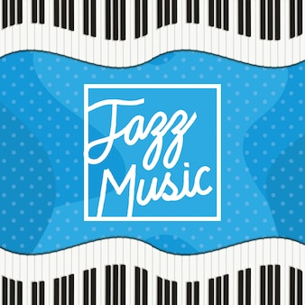 Cartaz de dia de jazz com teclado de piano