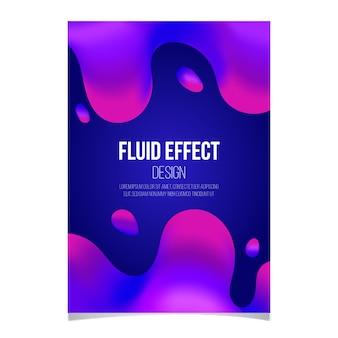 Cartaz de efeito fluido colorido