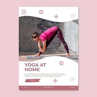 Cartaz de equilíbrio corporal de ioga