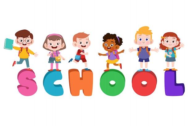 Cartaz de escola de crianças