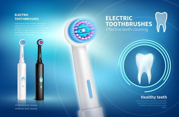 Cartaz de escova de dentes elétrica