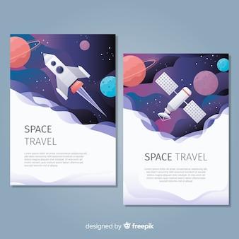 Cartaz de espaço extraído mão