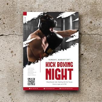 Cartaz de esporte com foto