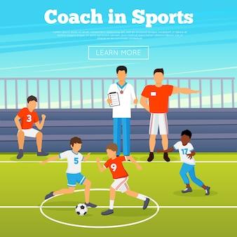 Cartaz de esporte de crianças