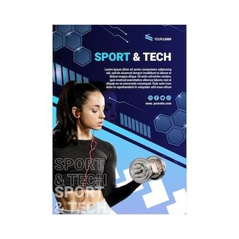 Cartaz de esporte e tecnologia