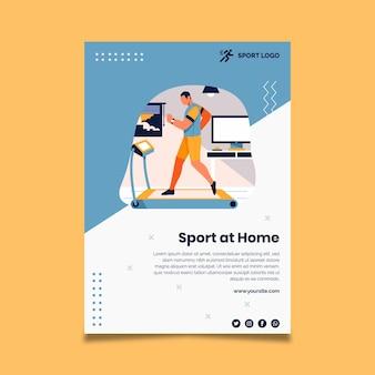 Cartaz de esporte em casa