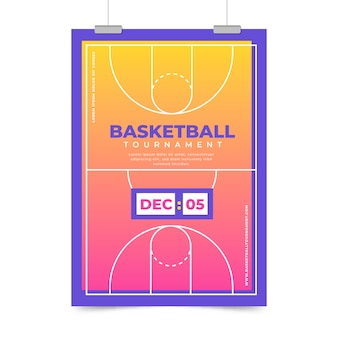 Cartaz de esporte para baksetball