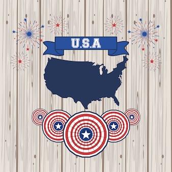 Cartaz de estados unidos da américa