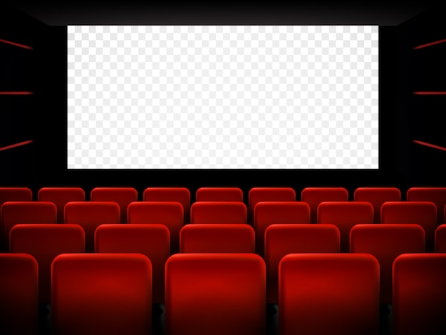 Cartaz de estréia de cinema filme com tela branca. fundo.