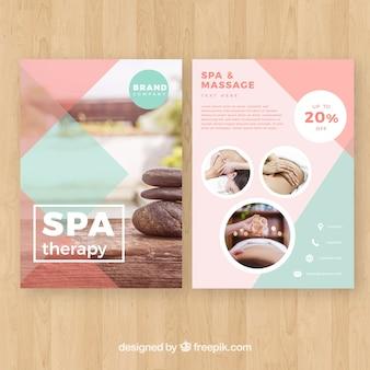 Cartaz de estúdio de spa com uma foto