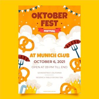 Cartaz de evento de mão desenhada oktoberfest