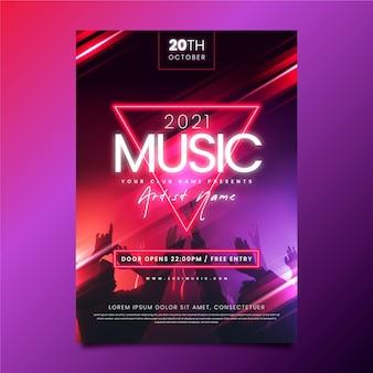 Cartaz de evento de música com foto