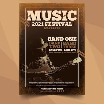 Cartaz de evento de música com imagem