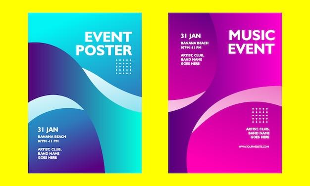 Cartaz de evento de música gradiente moderno