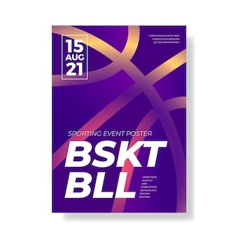 Cartaz de evento esportivo