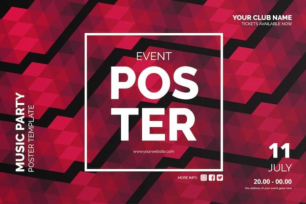 Cartaz de evento moderno com fundo abstrato