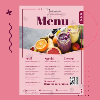 Cartaz de fábrica de smoothies