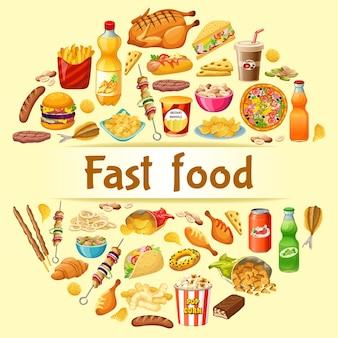 Cartaz de fast food.