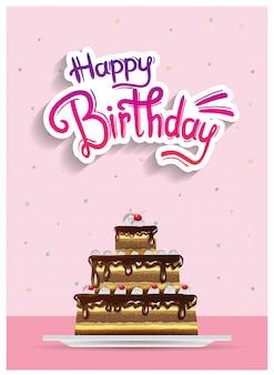 Cartaz de feliz aniversário, banner e festa de convite