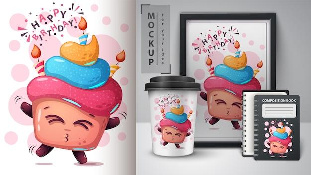 Cartaz de feliz aniversário e merchandising
