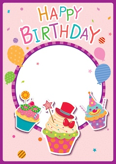 Cartaz de feliz aniversário