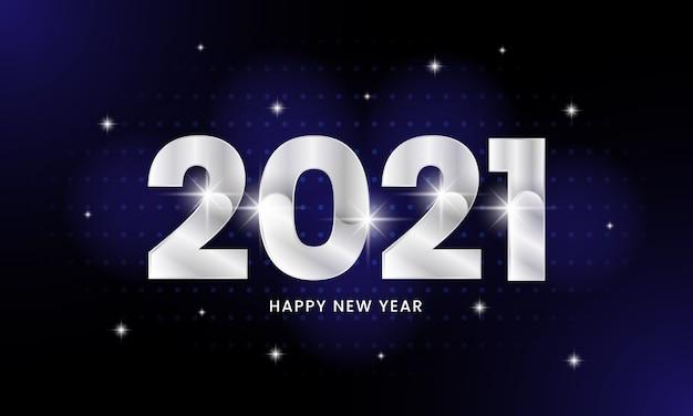 Cartaz de feliz ano novo de 2021