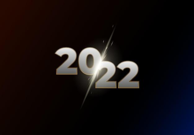 Cartaz de feliz ano novo de 2022