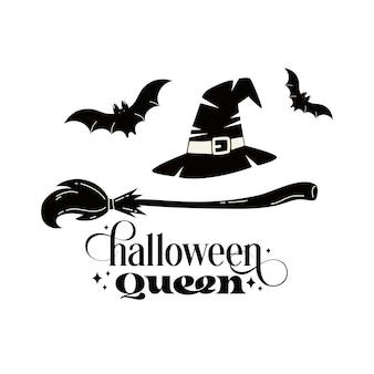 Cartaz de feliz dia das bruxas, cartão, convite para festa. ilustração vetorial.