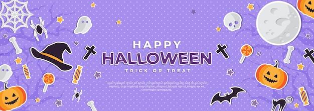 Cartaz de feliz dia das bruxas com texto e estilo recortado
