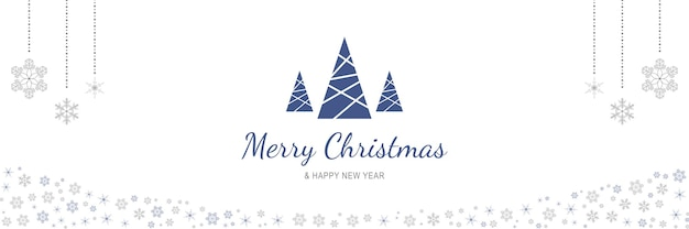 Cartaz de feliz natal e ano novo de 2022 banner minimalista de natal com árvores abstratas penduradas