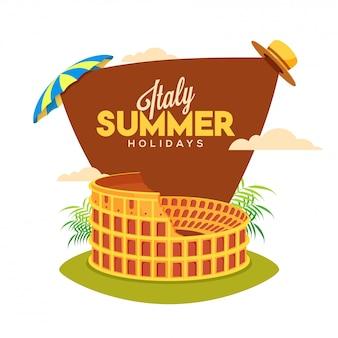 Cartaz de férias de verão itália