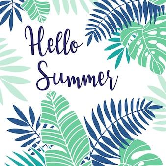 Cartaz de férias de verão tropical