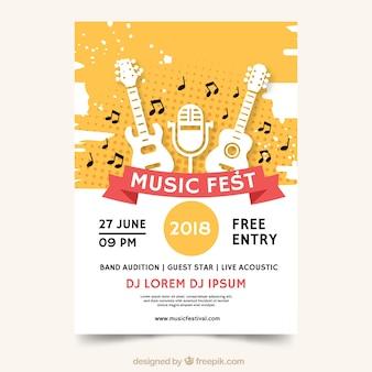 Cartaz de fest da música