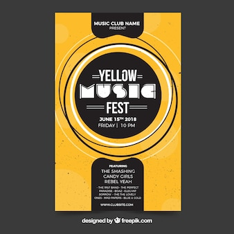 Cartaz de fest de música em estilo abstrato