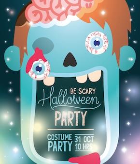 Cartaz de festa a fantasia de halloween