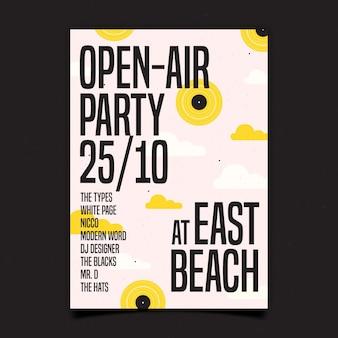 Cartaz de festa ao ar livre