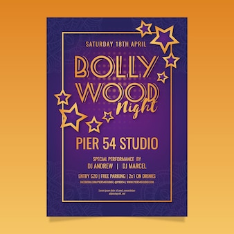 Cartaz de festa criativa de bollywood