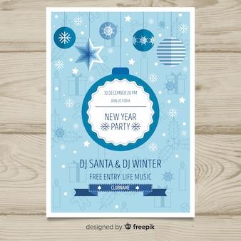 Cartaz de festa de ano novo de 2019
