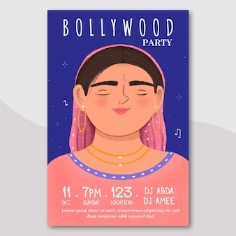 Cartaz de festa de bollywood