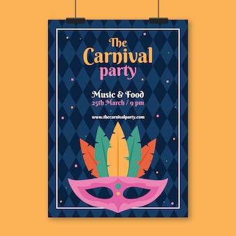 Cartaz de festa de carnaval vintage