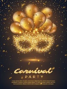 Cartaz de festa de carnaval.